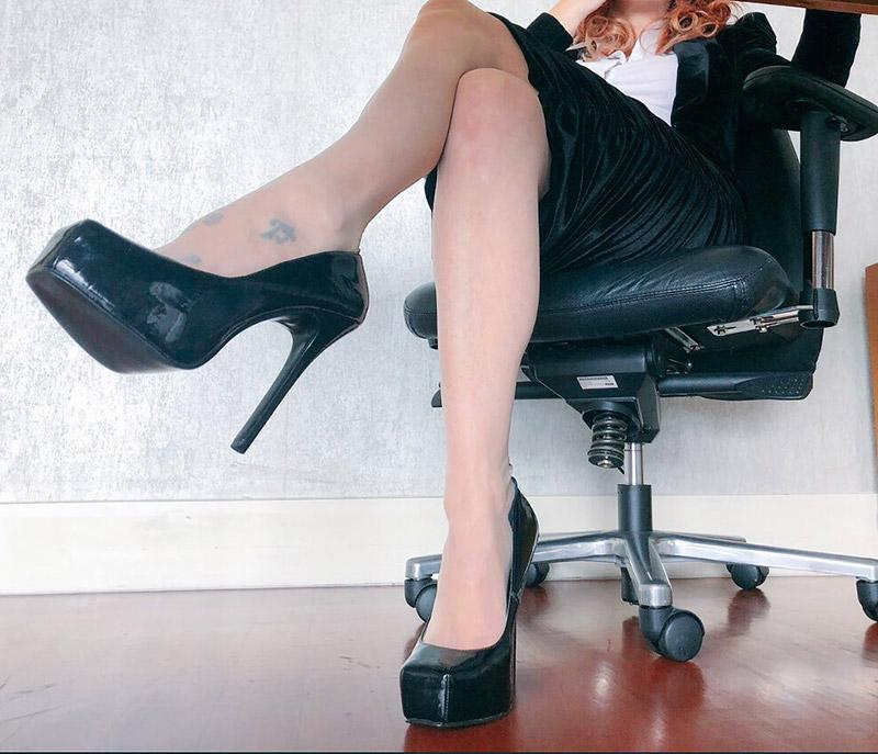 office roleplay brighton mistress leg fetish
